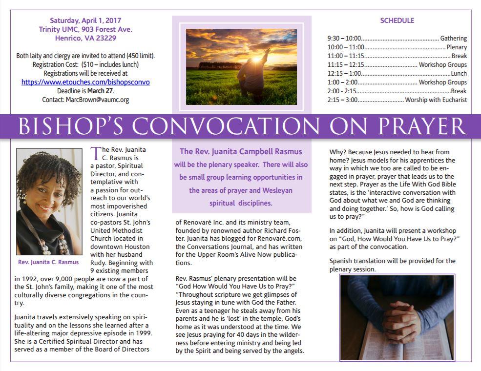 BISHOP'S CONV. ON PRAYER 2017 PG1