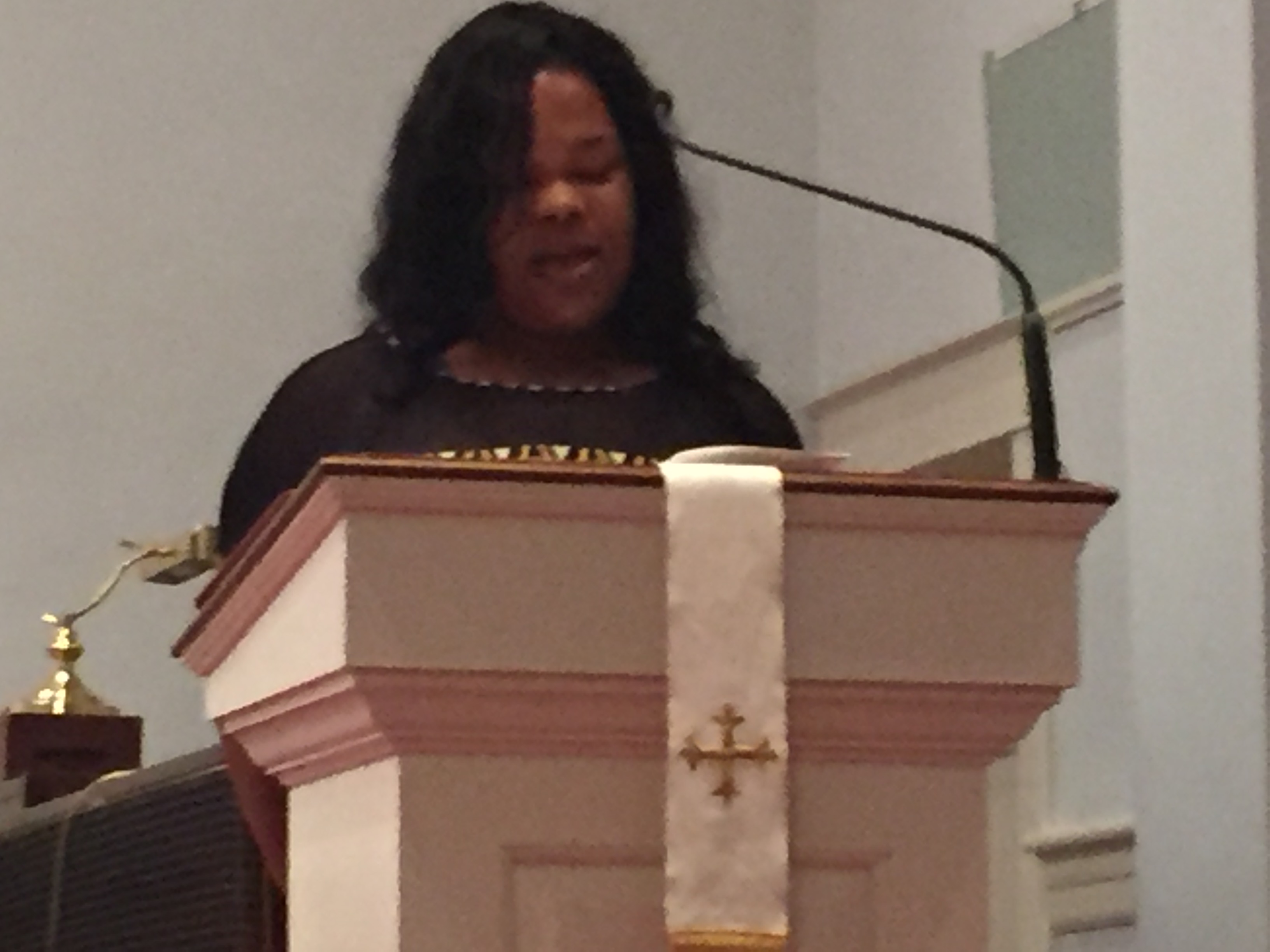 Trenika Springfield shares a message of hope after losing three family members in the February 24, 2016 tornado.